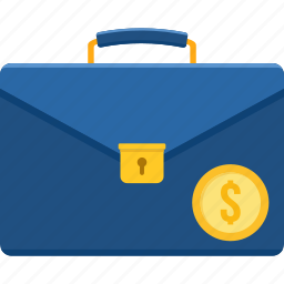 bag, baggage, briefcase, business, money icon