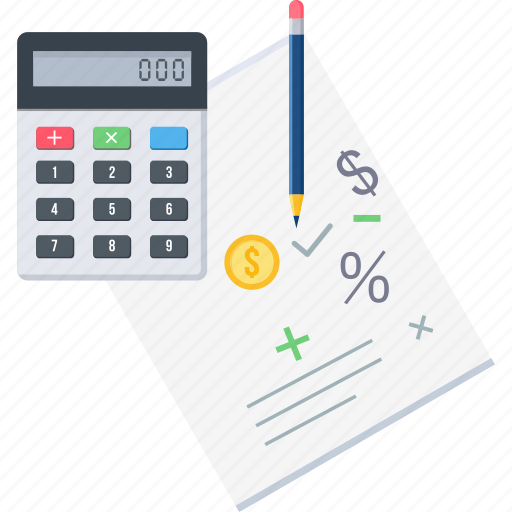calculation, finance, math, mathemetics, maths, work, working icon