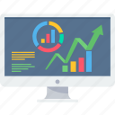 business, chart, computer, diagram, growth, pie, presentation icon