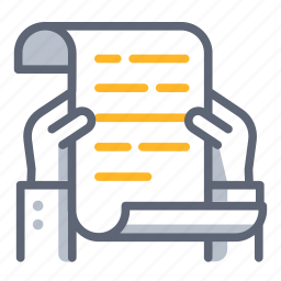 agreement, business, contract, document, read, report, treaty icon