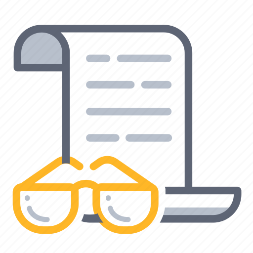 agreement, business, contract, focus, read, review, understand icon