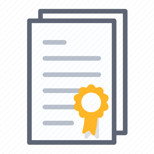 agreement, award, business, certificate, contract, diploma, document icon