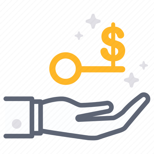 business, empower, finance, key, money, slove, success icon