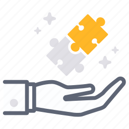business, financial, fulfill, jigsaw, partner, partnership, solution icon