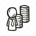 business, department, finance, stock market icon
