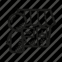 business, department, finance, sales, shop, shop owner icon