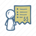 accountant, accounting, bills, business, department, finance icon