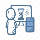 business, computer service, department, finance, it, it guy icon