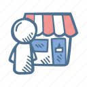 business, department, finance, sales, shop, shop owner, store owner icon