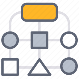 business, chart, development, flow, process, solution icon