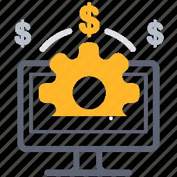 business, development, money, online, payment, working icon