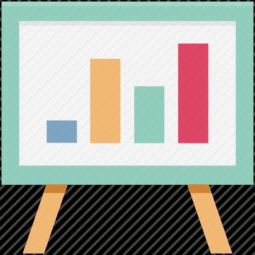 business presentation, chalkboard, easel, easel board, presentation, whiteboard icon