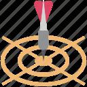 aim, bullseye arrow, dart, focus, goal, objective, target icon