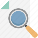 document, magnifier, paper searching, searching document, text searching