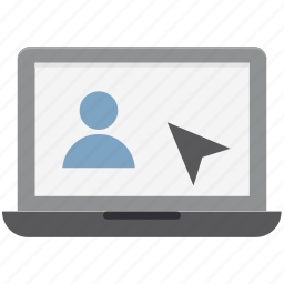 click, cursor, online profile, pointer, profile icon
