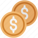 coin, currency coin, dollar, dollar coin, finance, money, saving icon