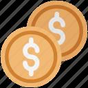 coin, currency coin, dollar, dollar coin, finance, money, saving