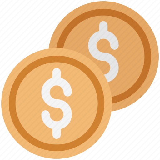 Coin, currency coin, dollar, dollar coin, finance, money, saving icon - Download on Iconfinder