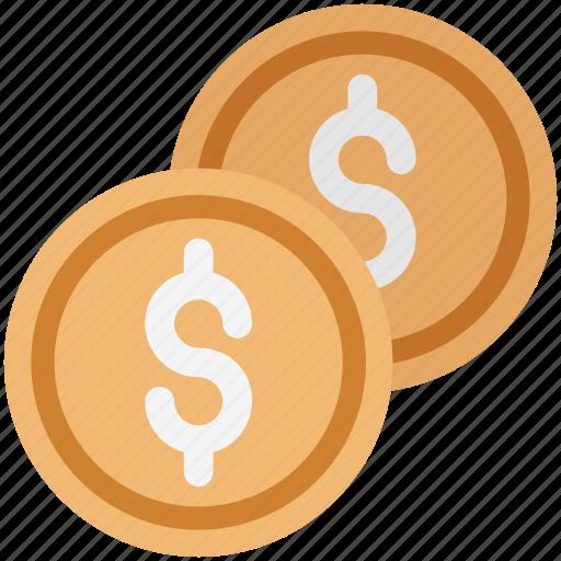 coin, currency coin, dollar, dollar coin, finance, money, saving icon