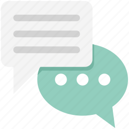 chat balloon, chat bubbles, comments, communication, speech balloon, speech bubble, talk icon