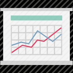 analytical chart, analytics, infographics, line chart, online graph, statistics, web analytics icon