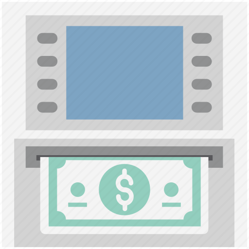 atm, atm withdrawal, automated teller, banking, cash withdrawal, dollar, transaction icon