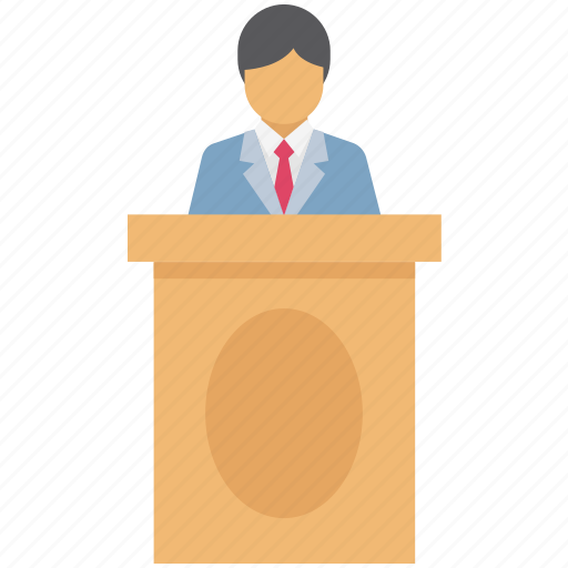 audience, conference, lecture, lecturer, presentation, speaker, training icon