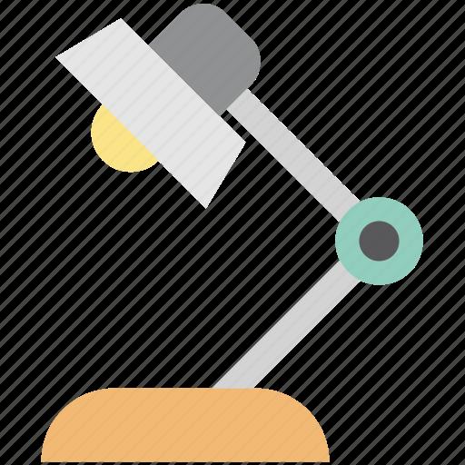 desk lamp, desk light, illuminate, lamp, lamp light, light, table lamp icon