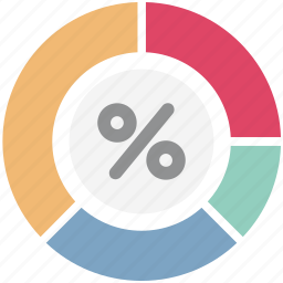 chart, discount, graph, percent, percentage, pie graph, sale icon