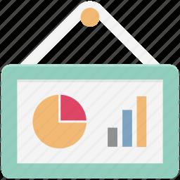 bar chart, bar graph, business chart, graph board, infographics, progress chart, statistics icon