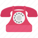 contact us, landline, phone, retro telephone, telephone icon
