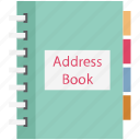 address book, appointments, diary, memo book, notebook, notepad, notes icon