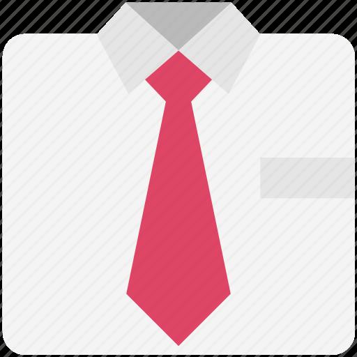 fashion, formal shirt, necktie, shirt, tie, uniform tie icon