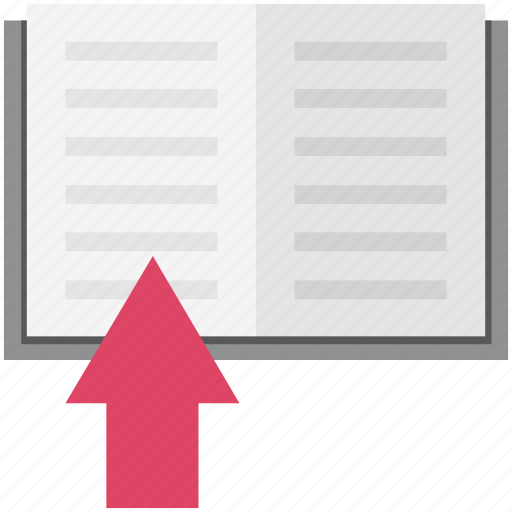 Book, bookmark, diary, notebook, notes, up arrow, write icon - Download on Iconfinder