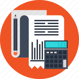 accounting, business, calculating, finance, marketing, strategy icon
