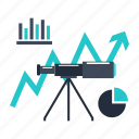 analytics, business, finance, forecast, market icon