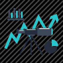 analytics, business, finance, forecast, market icon