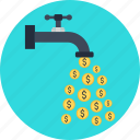 business, cash, finance, flow, money icon
