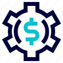 business, dollar, management, money, setting icon