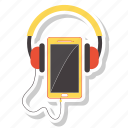 communication, headphone, listening, mobile icon