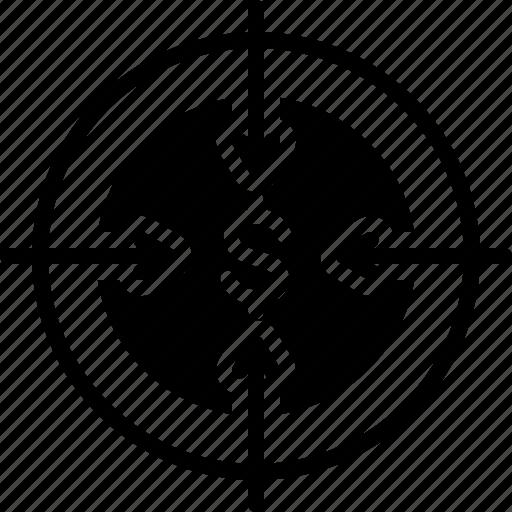 Ambition, bullseye, challenge, dartboard, goal, intention, target icon - Download on Iconfinder