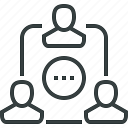 chat, communication, group, hierarchy, relationship, social, talk, team icon