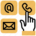 business, call, contact, function, menu icon
