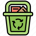 bin, garbage, recycle, reused, waste icon