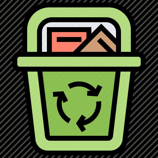 bin, garbage, recycle, reused, waste icon