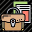 bag, briefcase, documents, storage, suitcase icon
