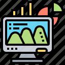 computer, monitor, office, presentation, processor icon