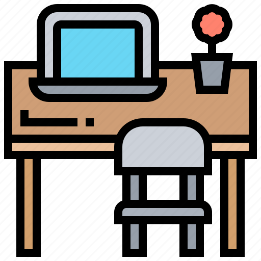 business, desk, office, workplace, workspace icon