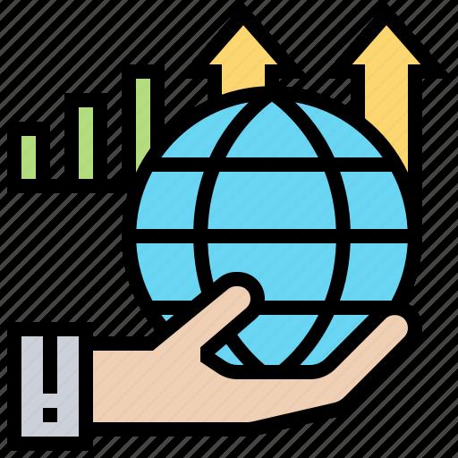 business, global, marketing, success, worldwide icon
