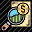 details, explore, magnifier, search, survey icon